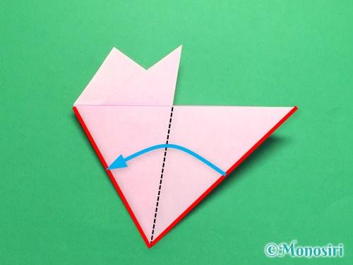 折り紙で桜の花びらの作り方手順15