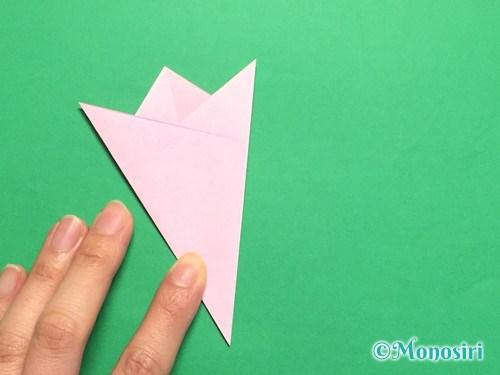 折り紙で桜の花びらの作り方手順16