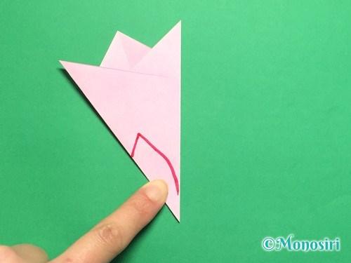 折り紙で桜の花びらの作り方手順17