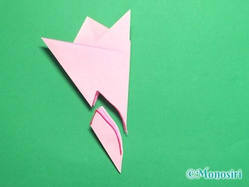 折り紙で桜の花びらの作り方手順18