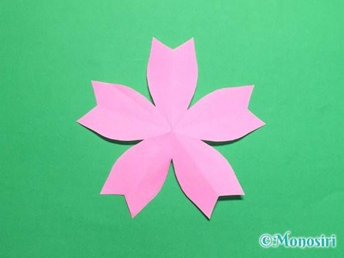 折り紙で桜の花びらの作り方手順19