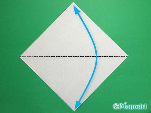 折り紙で立体的な桜(器)の作り方手順1