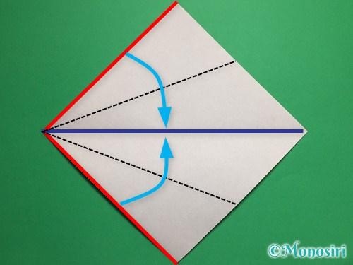折り紙で立体的な桜(器)の作り方手順3