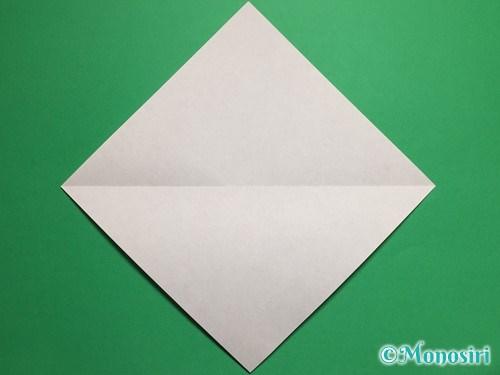 折り紙で立体的な桜(器)の作り方手順2
