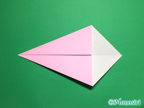 折り紙で立体的な桜(器)の作り方手順4