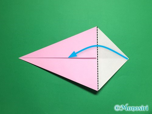 折り紙で立体的な桜(器)の作り方手順5