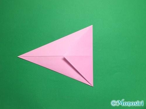折り紙で立体的な桜(器)の作り方手順6