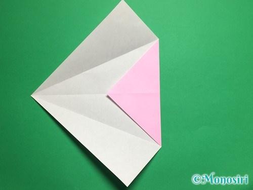 折り紙で立体的な桜(器)の作り方手順9