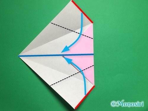 折り紙で立体的な桜(器)の作り方手順10
