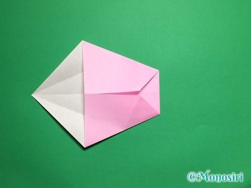 折り紙で立体的な桜(器)の作り方手順11