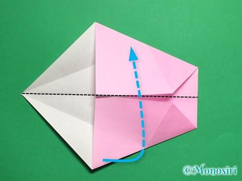 折り紙で立体的な桜(器)の作り方手順12