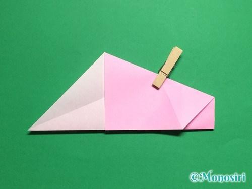 折り紙で立体的な桜(器)の作り方手順13