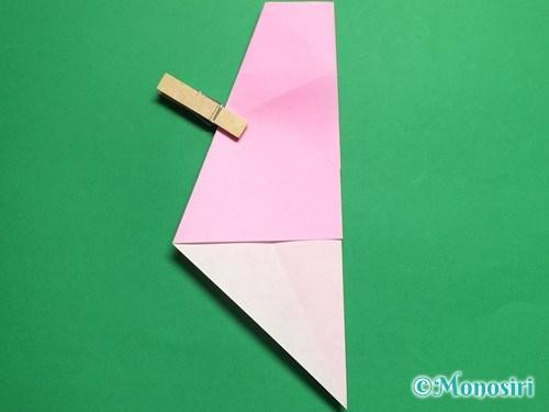 折り紙で立体的な桜(器)の作り方手順14