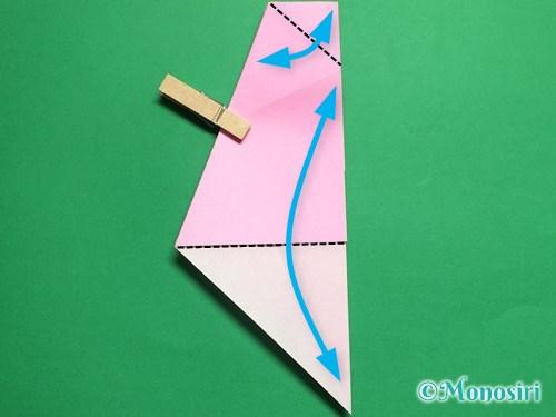 折り紙で立体的な桜(器)の作り方手順15