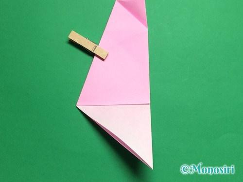 折り紙で立体的な桜(器)の作り方手順16