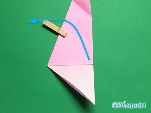 折り紙で立体的な桜(器)の作り方手順17