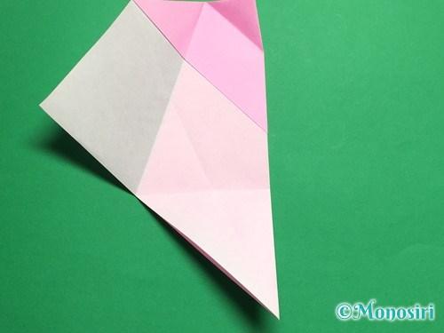 折り紙で立体的な桜(器)の作り方手順18