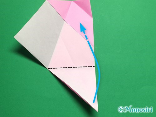 折り紙で立体的な桜(器)の作り方手順19