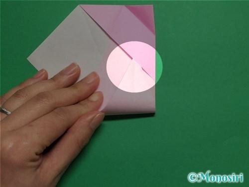 折り紙で立体的な桜(器)の作り方手順20