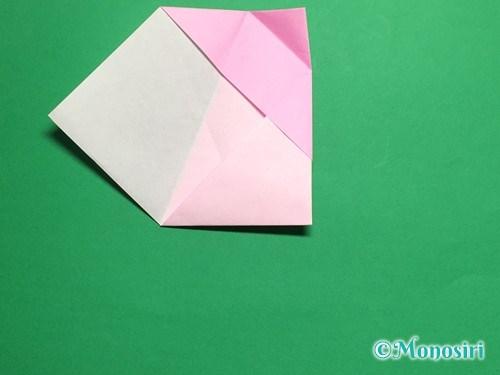 折り紙で立体的な桜(器)の作り方手順21