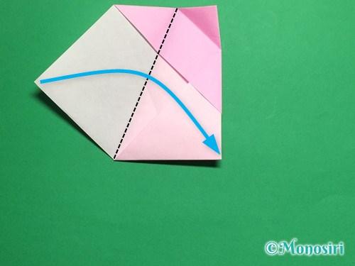 折り紙で立体的な桜(器)の作り方手順22