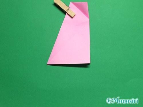 折り紙で立体的な桜(器)の作り方手順23