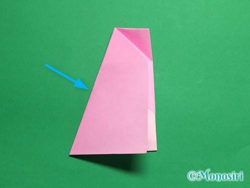折り紙で立体的な桜(器)の作り方手順24