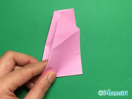 折り紙で立体的な桜(器)の作り方手順25