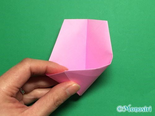折り紙で立体的な桜(器)の作り方手順26