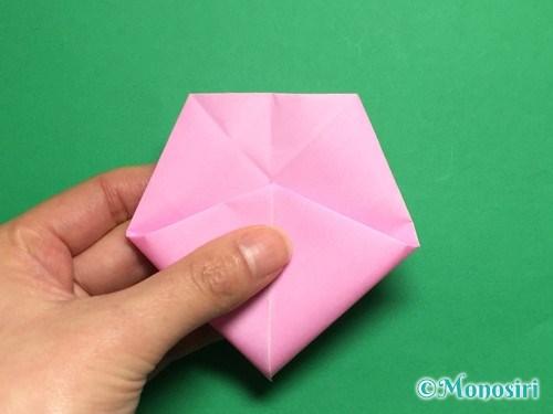 折り紙で立体的な桜(器)の作り方手順27