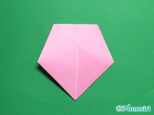 折り紙で立体的な桜(器)の作り方手順28