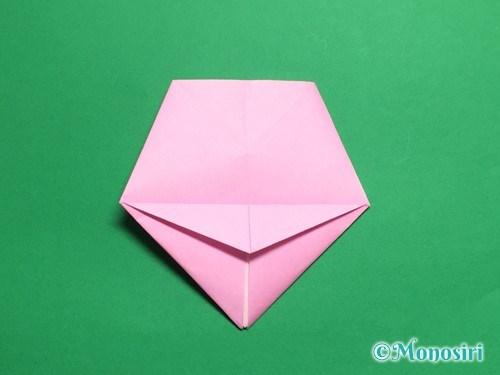 折り紙で立体的な桜(器)の作り方手順30