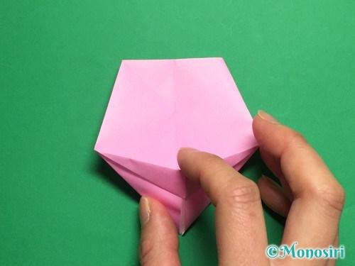 折り紙で立体的な桜(器)の作り方手順31