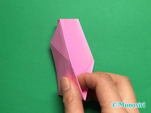 折り紙で立体的な桜(器)の作り方手順32