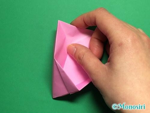 折り紙で立体的な桜(器)の作り方手順33