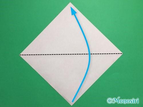 折り紙で簡単なチューリップの折り方手順1