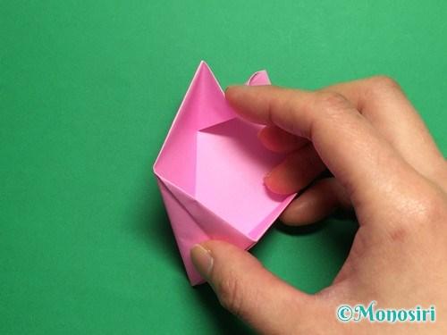 折り紙で立体的な桜(器)の作り方手順34
