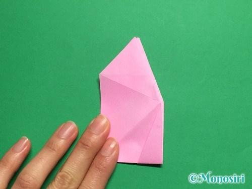 折り紙で立体的な桜(器)の作り方手順35