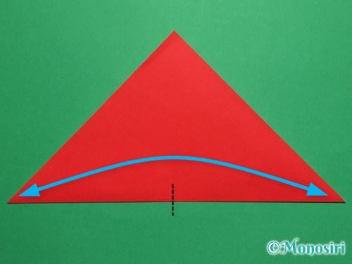 折り紙で簡単なチューリップの折り方手順3