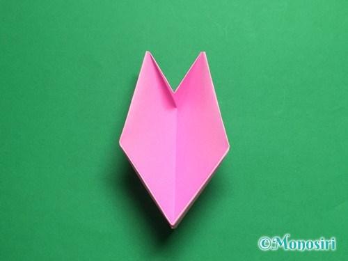 折り紙で立体的な桜(器)の作り方手順36