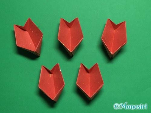 折り紙で立体的な桜(器)の作り方手順37