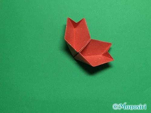 折り紙で立体的な桜(器)の作り方手順38