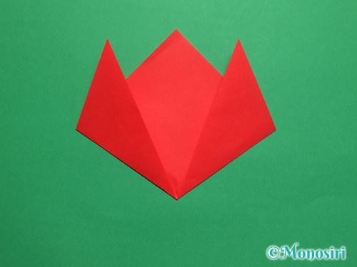 折り紙で簡単なチューリップの折り方手順6