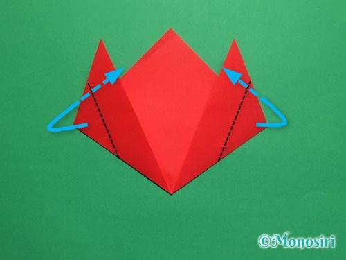 折り紙で簡単なチューリップの折り方手順7