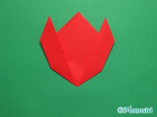 折り紙で簡単なチューリップの折り方手順8