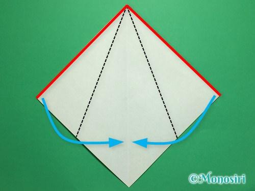 折り紙で簡単なチューリップの折り方手順11