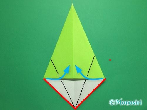折り紙で簡単なチューリップの折り方手順13
