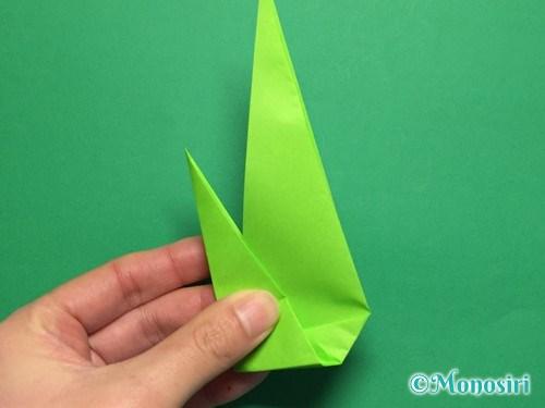 折り紙で簡単なチューリップの折り方手順21