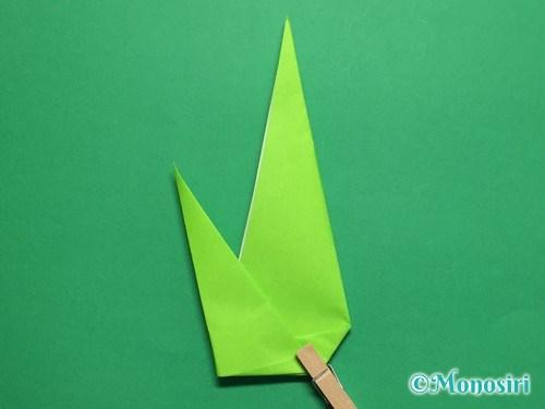 折り紙で簡単なチューリップの折り方手順22