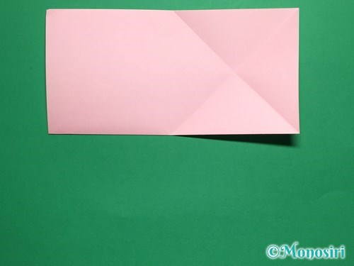 折り紙で立体的な桜の花びらの作り方手順4